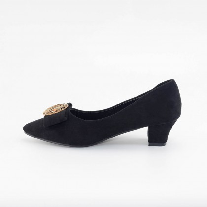 Charlotte Bling Pointed Heels in Black
