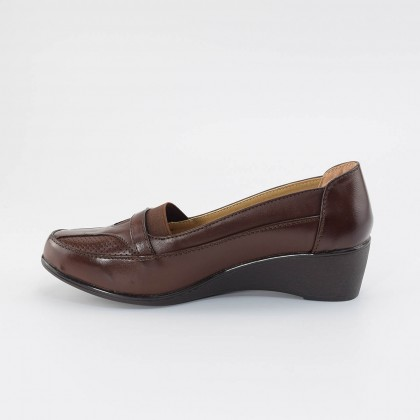 Camille Buckle Loafers in Brown