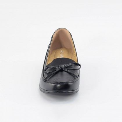 Camille Ribbon Loafers in Black