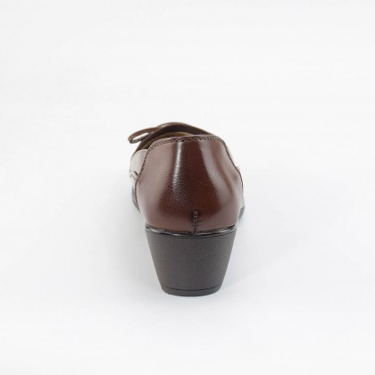 Camille Ribbon Loafers in Brown