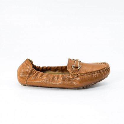 Anna Sash Loafers in Camel