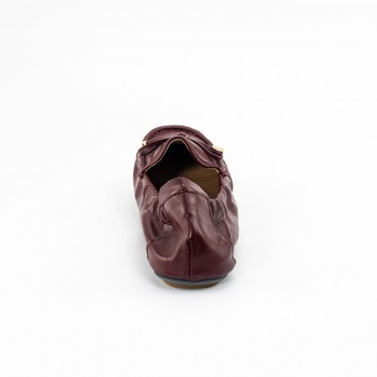 Anna Ribbon Loafers in Maroon