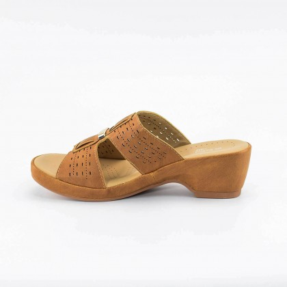 Aubrey Wedges in Camel