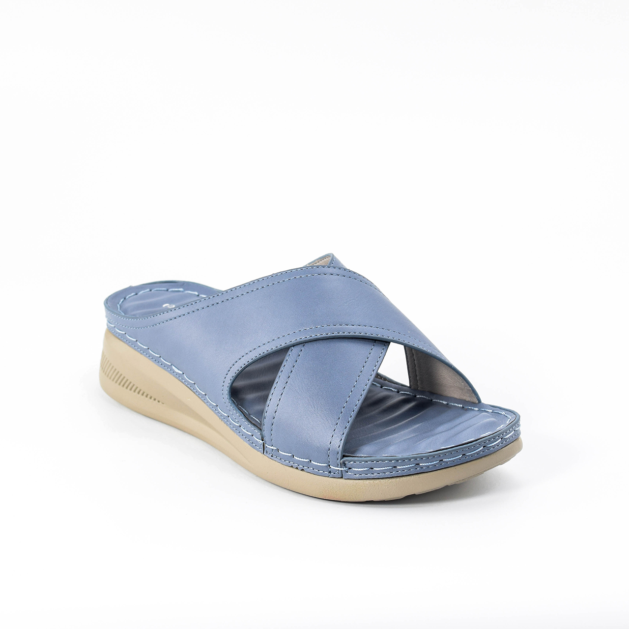 Daphne Cross Wedges in Baby Blue