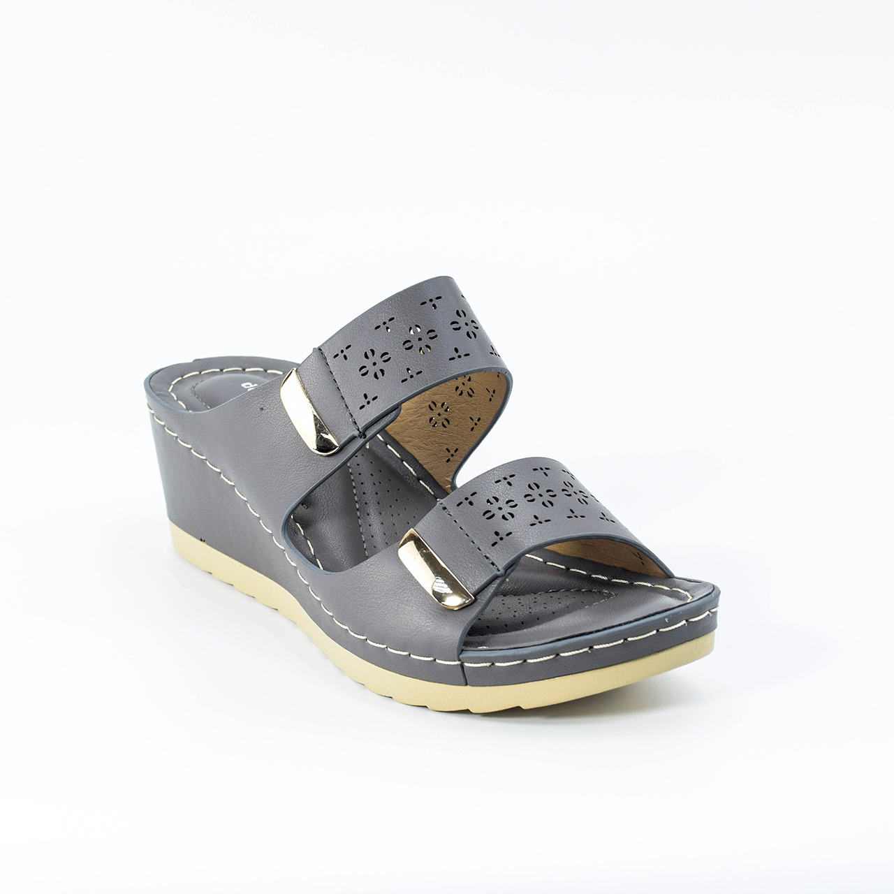 Keyla Wedges in Grey