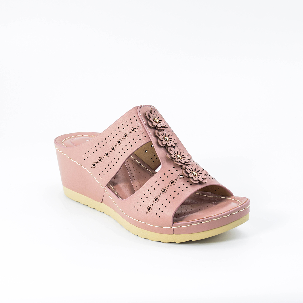 Trinity Wedges in Pink