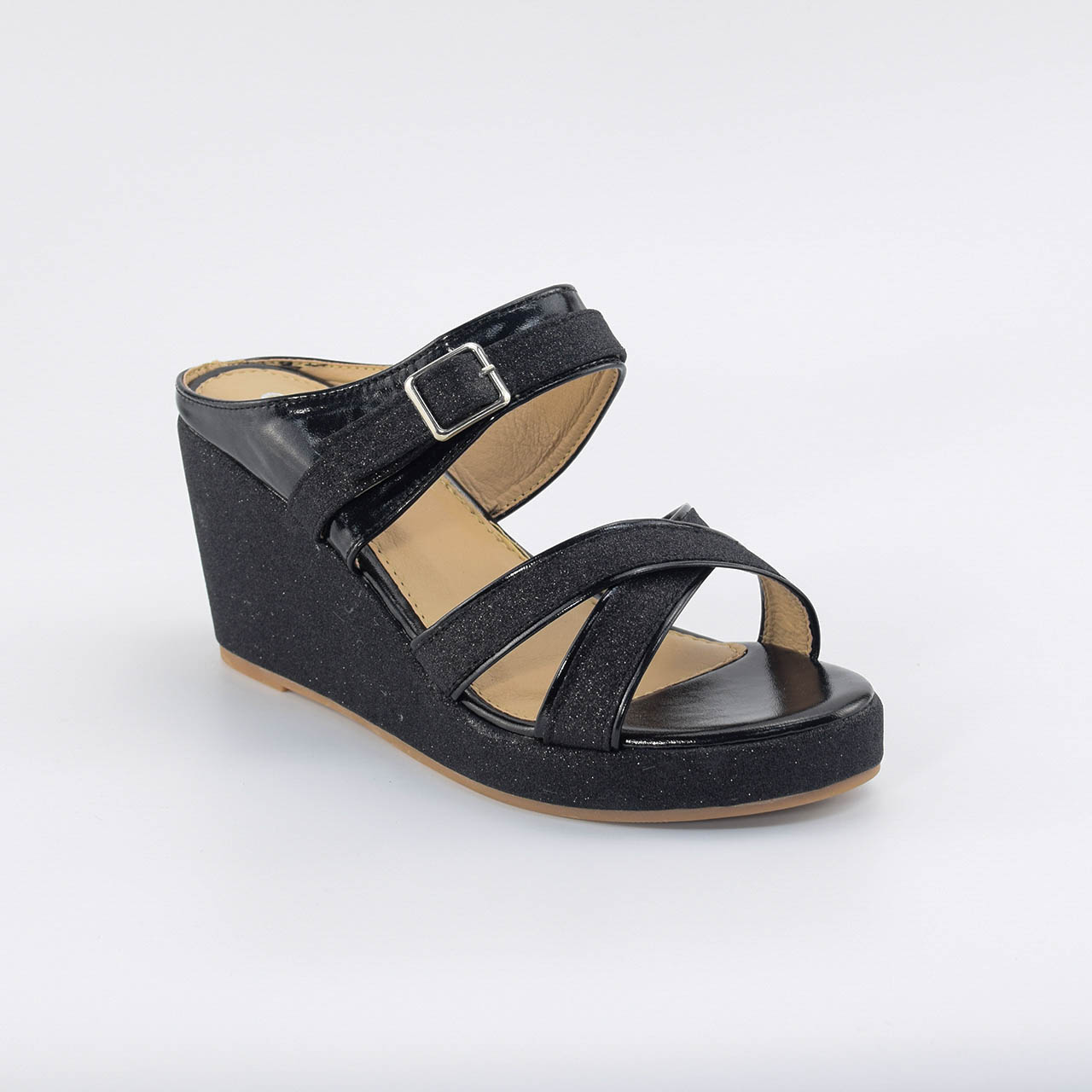 Maeve Cross Wedges in Black