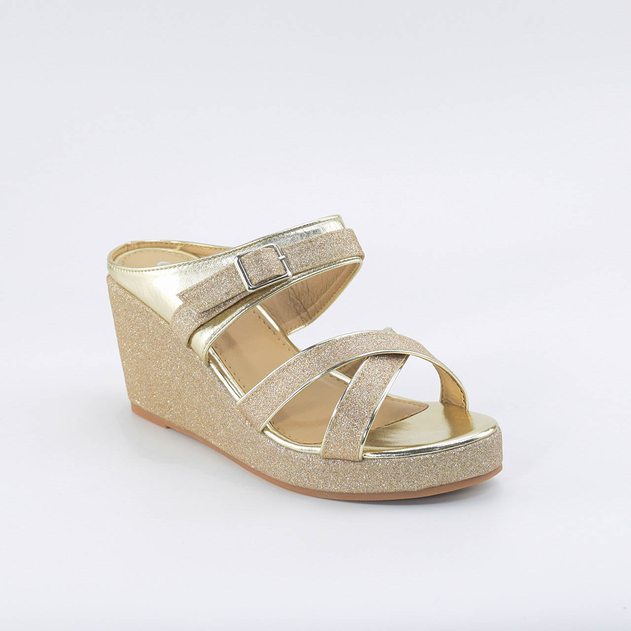 Maeve Cross Wedges in Gold
