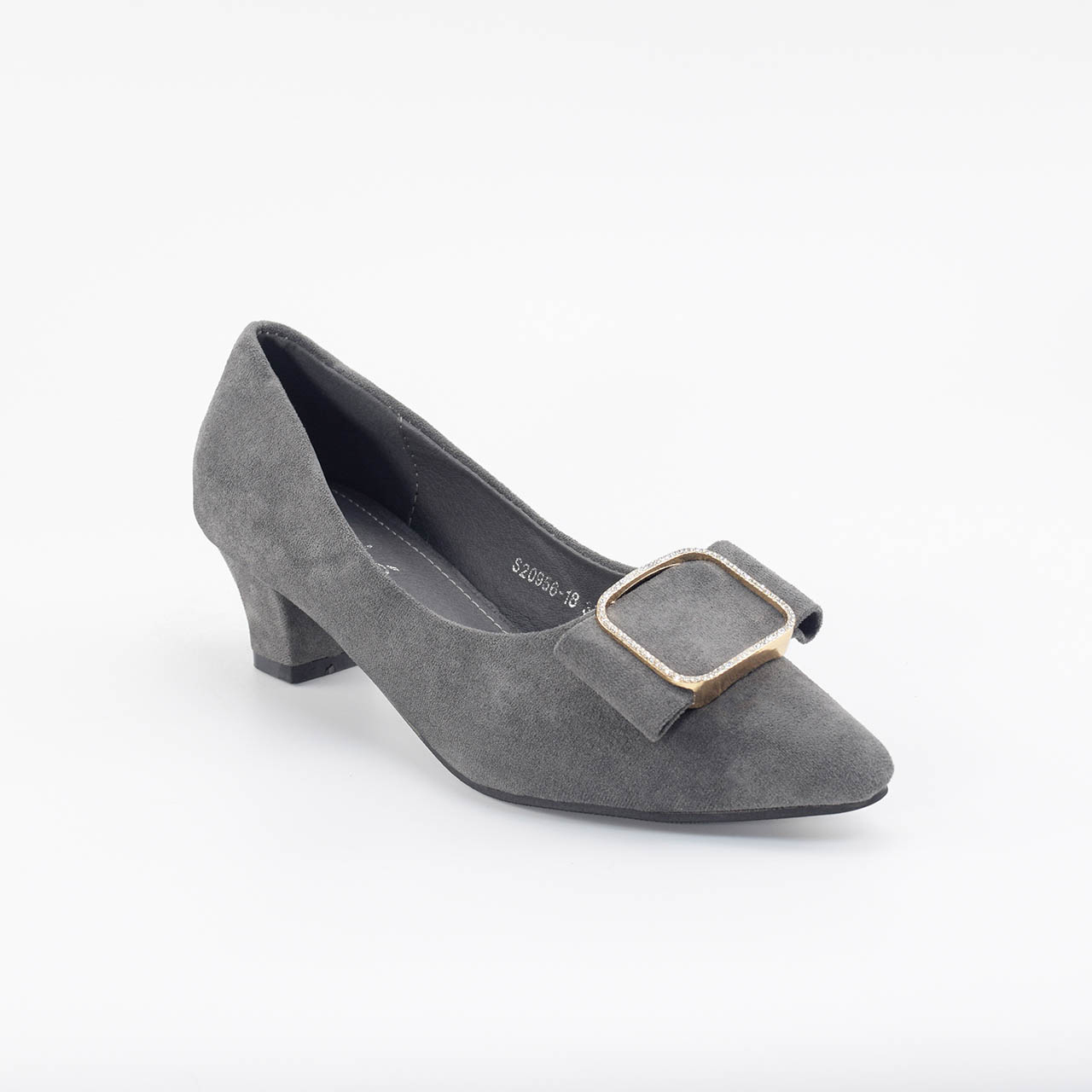 Charlotte Pointed Heels in Grey