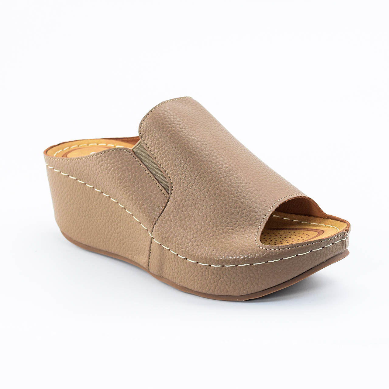 Tiana Wedges in Khaki