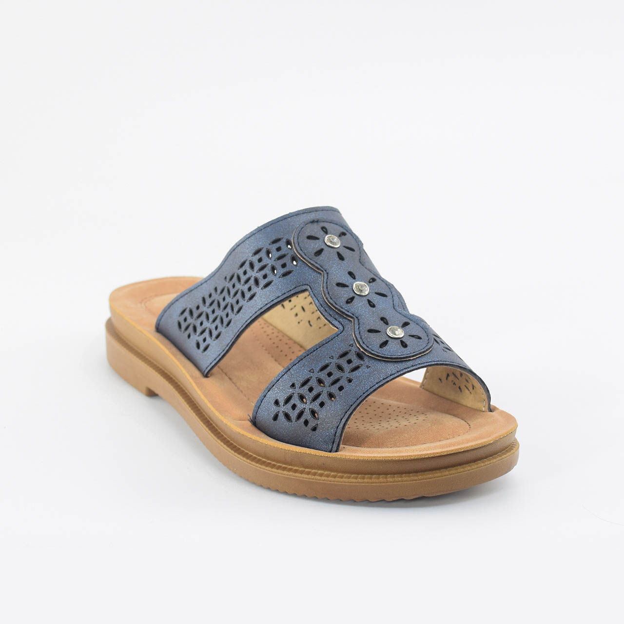 Lacey Sliders in Navy