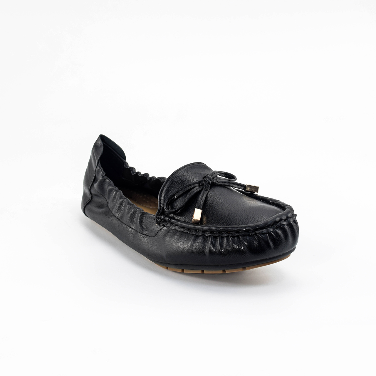 Anna Ribbon Loafers in Black