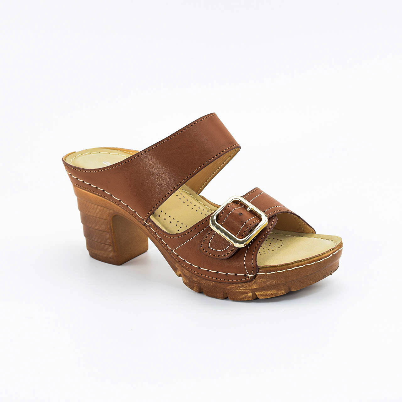 Claire Heels in Brown