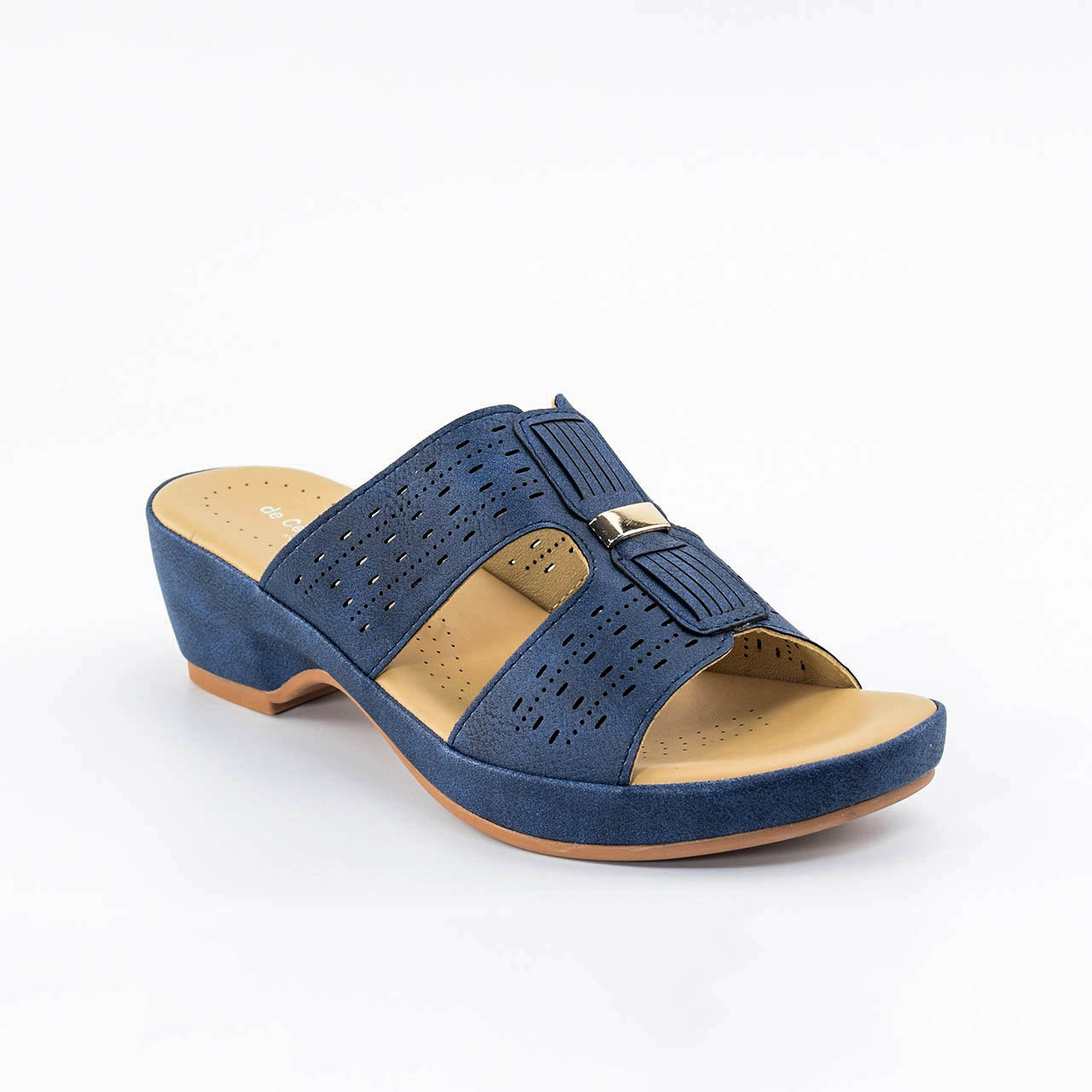 Aubrey Wedges in Navy